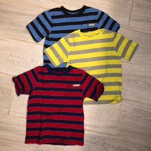3 Boys gap stripe shirts size 5